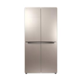 456L对开门宽薄家用冰箱
